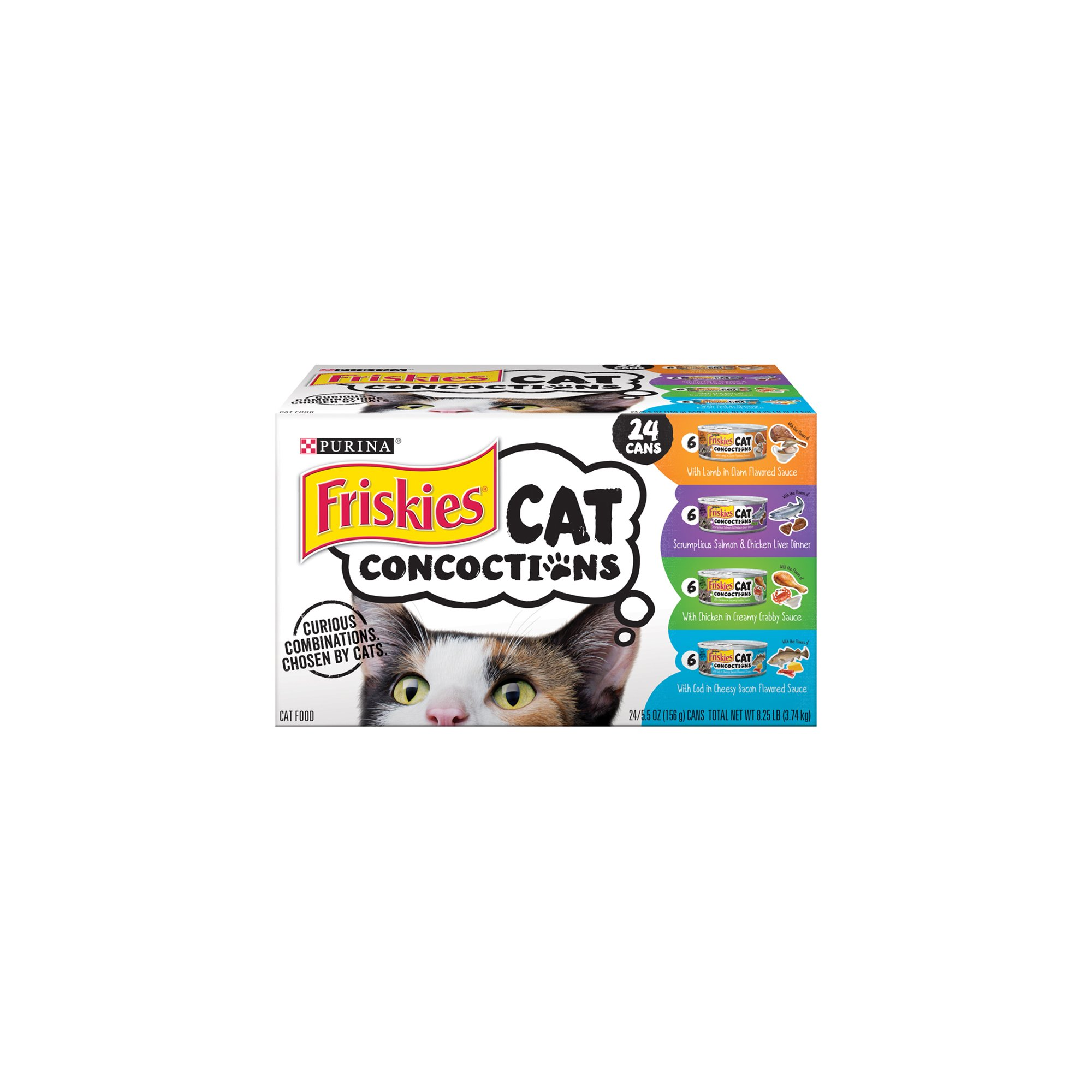 Purina Friskies Cat Concoctions Variety Pack Cat Food - (24) 8.25 lb. Box