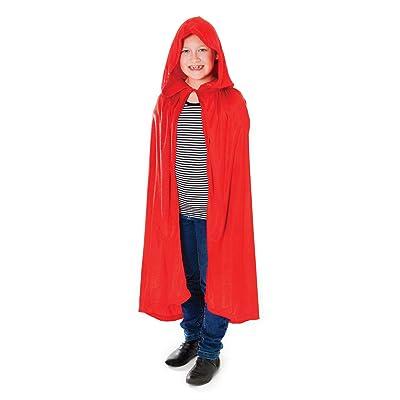 Bristol Novelty Cc173en velours à capuche Cape Costume, Rouge, Medium