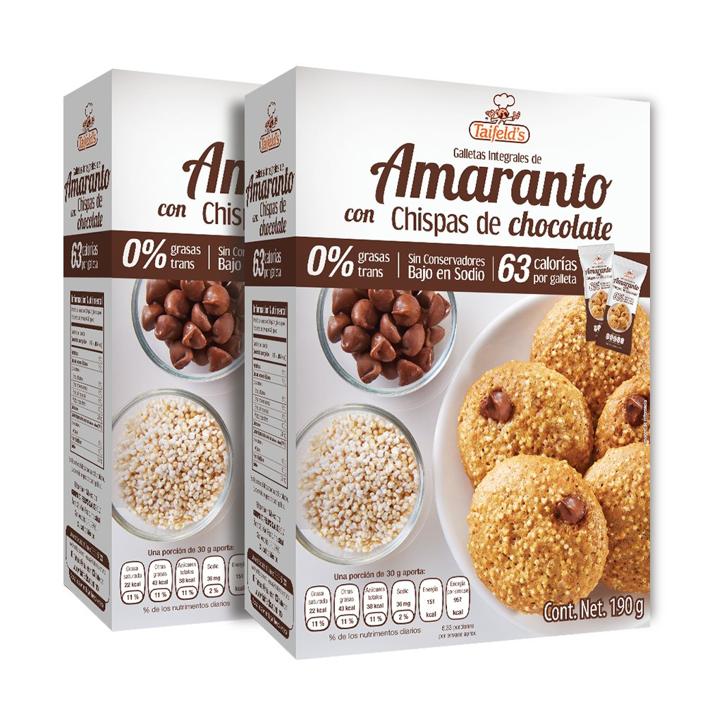 Amaranth Cookies with Chocolate Chips