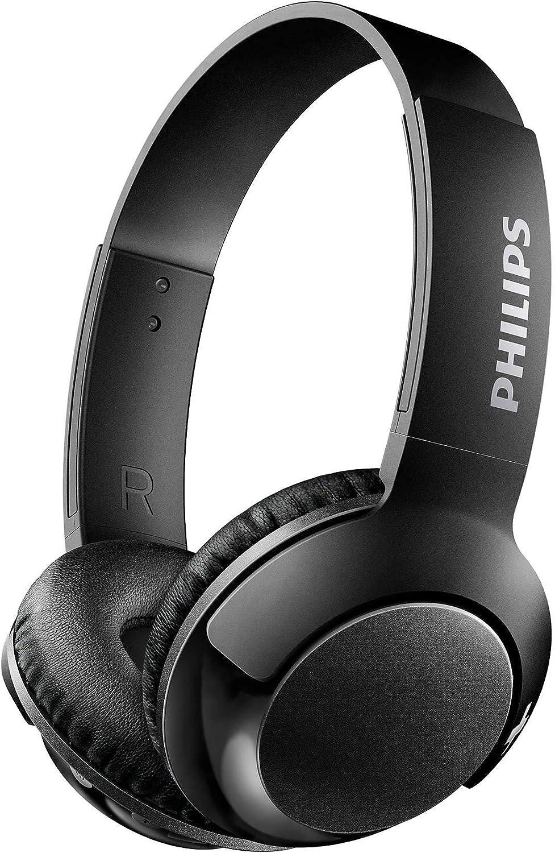 Philips SHB3075BK - Auriculares Inalambricos (con micrófono, aislantes de ruido, plegables, 12 h dereproducción) negro: Amazon.es: Electrónica