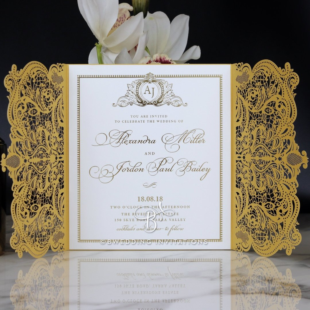 Amazon.com: Wedding Invitations, Royal Lace with Foil, Sample Only ...