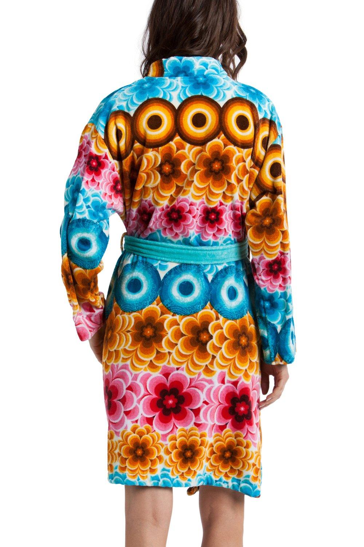 Desigual Women\'s Bath Robe Dressing Gown Mandala Model Celeste Coral ...