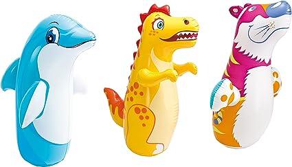 Color Baby - Animal hinchable tentetieso, modelos aleatorios, 1 unidad: Amazon.es: Juguetes y juegos