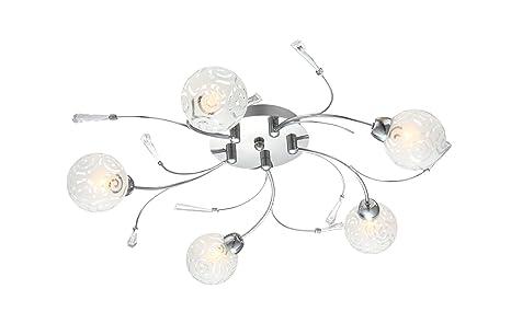 Plafoniera Globo Lighting : Hochwertige deckenleuchte chrom glaskugel mit ornamenten