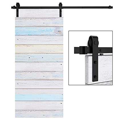 EaseLife 6 FT Heavy Duty Sliding Barn Door Hardware Track Kit-Ultra Hard  Sturdy | Sliding Smooth Quiet | One Piece 6FT Track | Easy Install | Fit