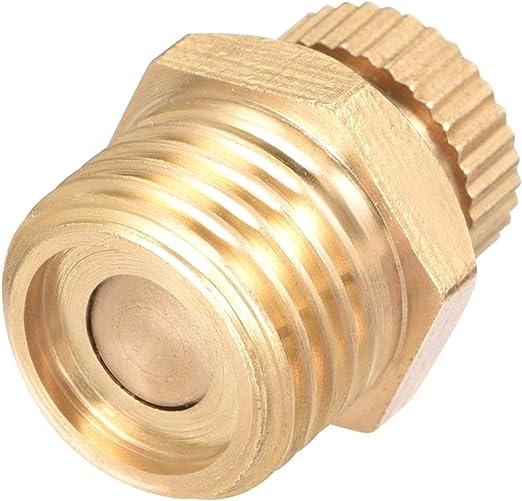 YUNB 1 Piezas compresor de Aire de Tono de latón 1/4 PT Rosca Macho válvula de Drenaje de Agua: Amazon.es: Hogar