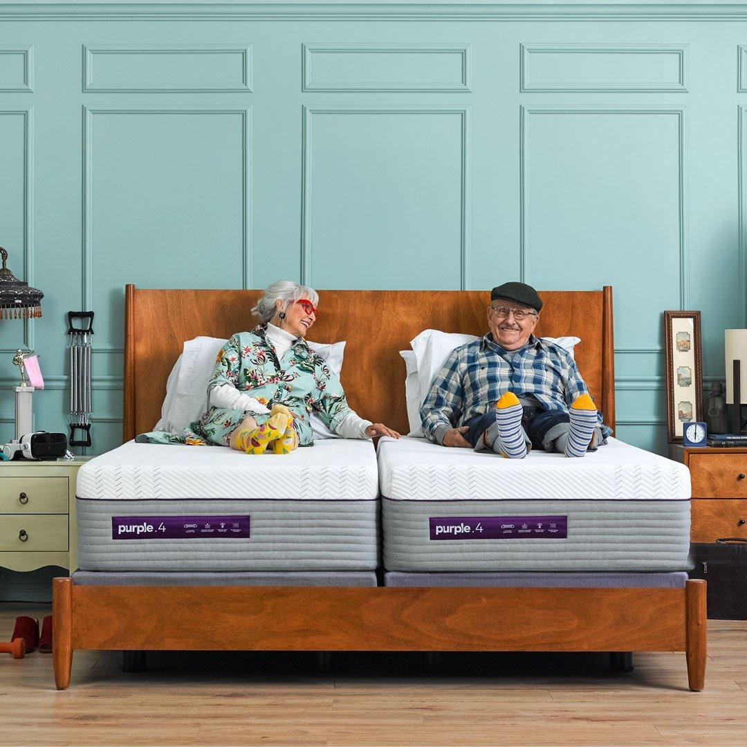 Amazon.com: El nuevo colchón morado, con suave 4 pulgadas ...