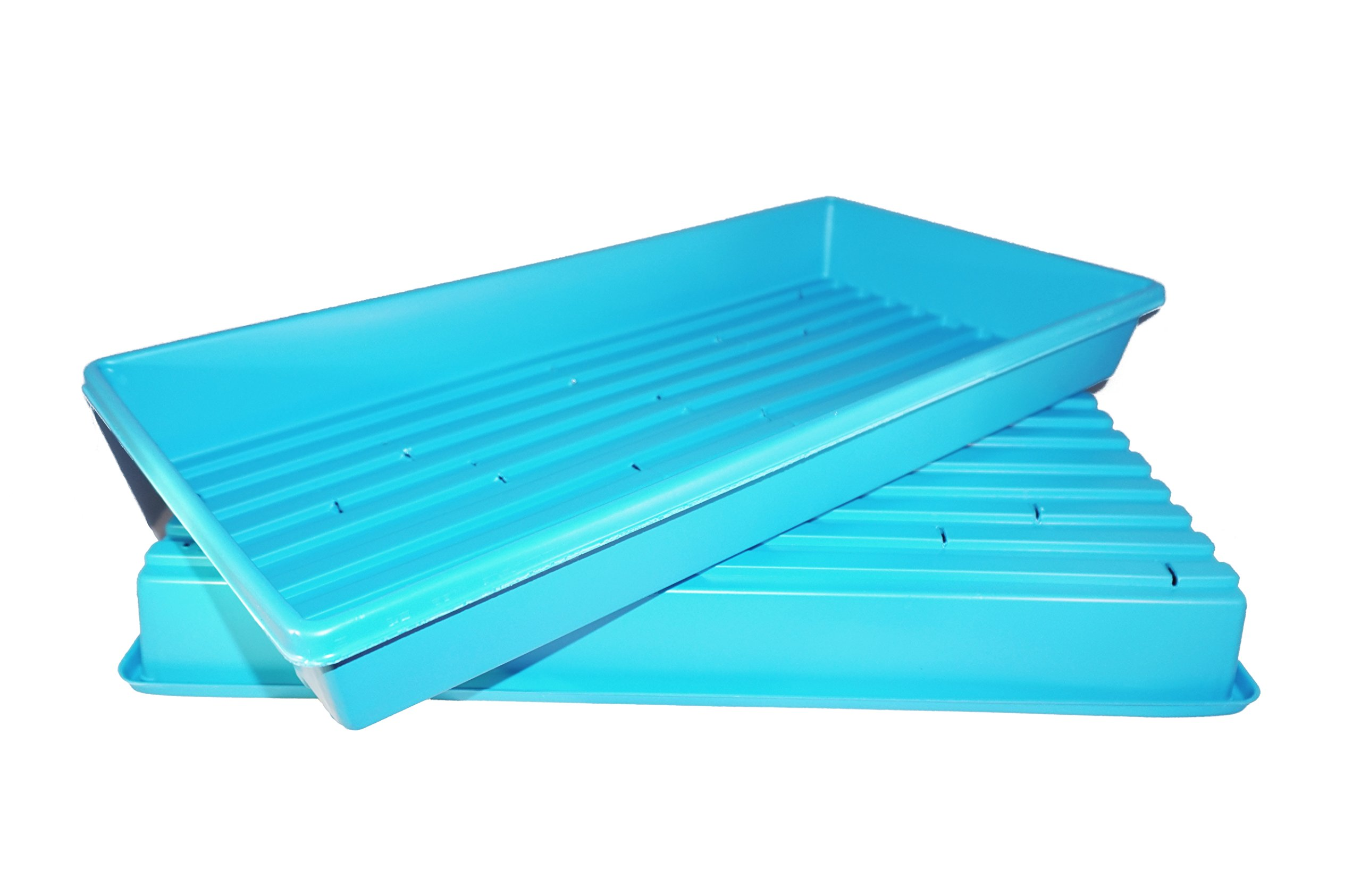 Heavy Duty, Made in USA, 1020 Growing Tray for garden seeds, Microgreens, Wheatgrass (With Drain Holes)