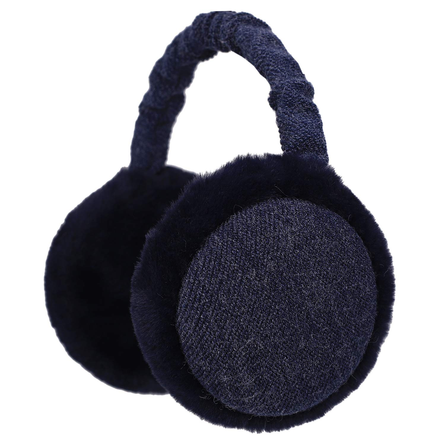 Zeltauto Unisex Folding Ear Warmer Soft Plush Thermal Earmuff