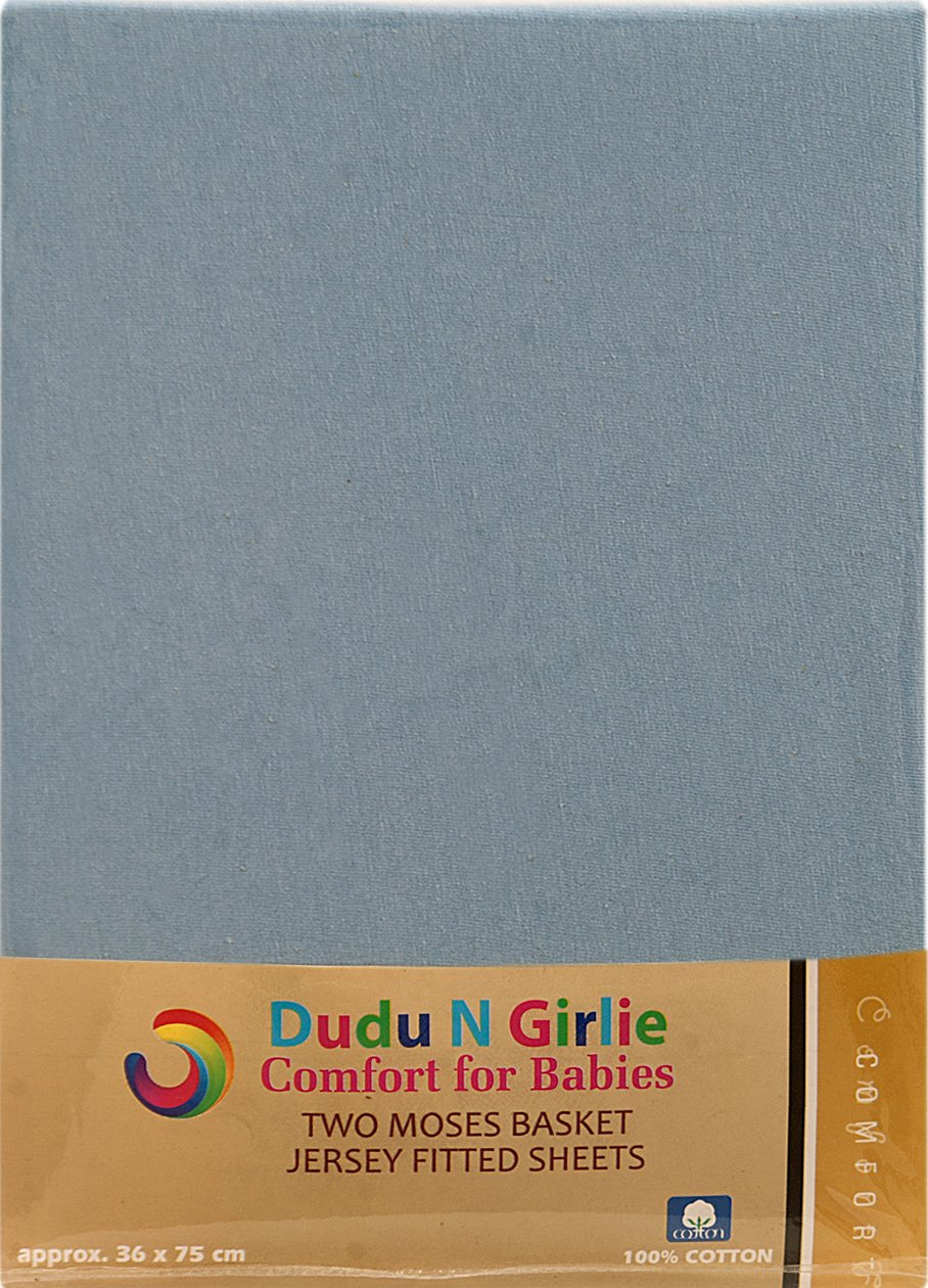 2-Piece Dudu N Girlie Cotton Jersey Cot Bed Fitted Sheets Cream 70 cm x 140 cm