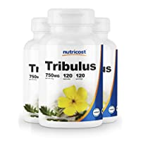 Nutricost Tribulus Terrestris Extract 750mg, 120 Capsules (3 Bottles)