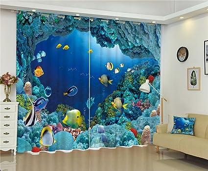 Wapel Fantasy Fondali Blu Moderno 3D di Tende Oscuranti per Bambini ...