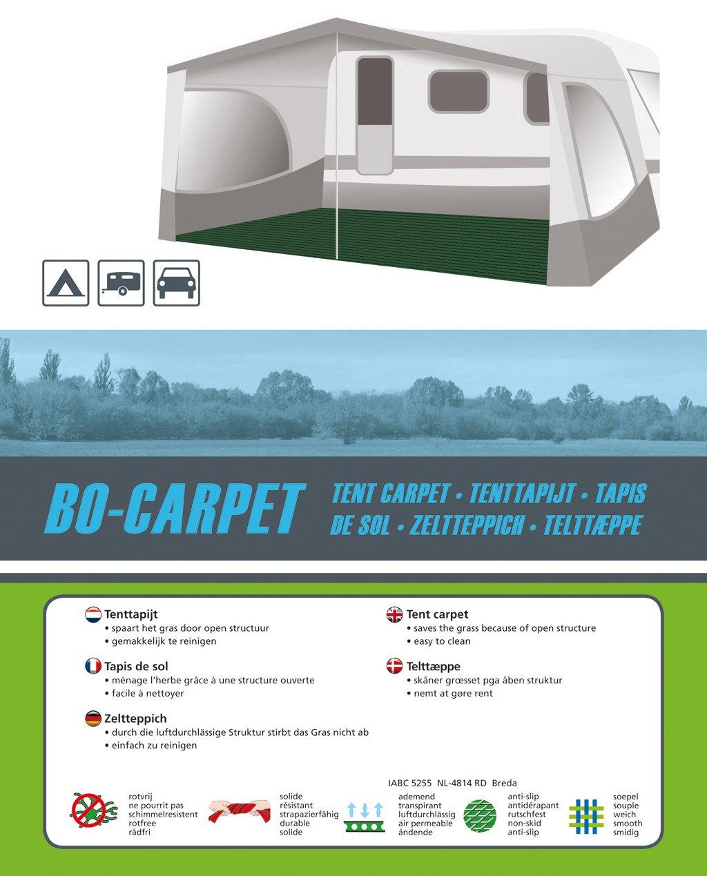 Bo-Camp 4218006 Green 3 x 6 m Carpet