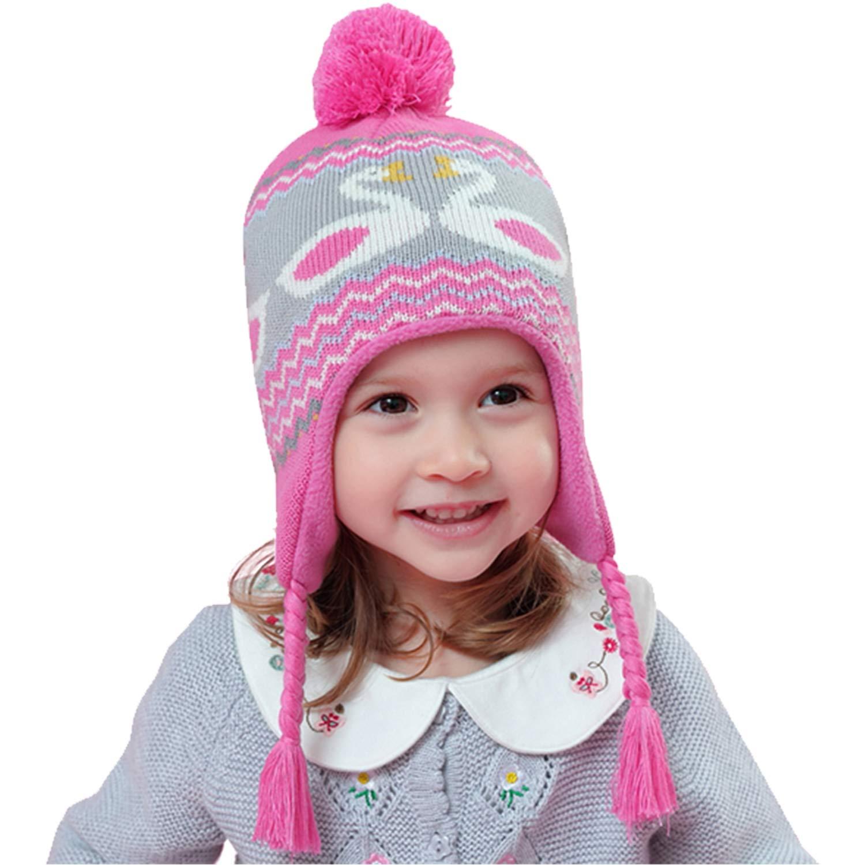 Snyemio Cappello Invernale a Maglia Bimba Bambina Ragazza Paraorecchie Infantile Knit PON PON Berretto