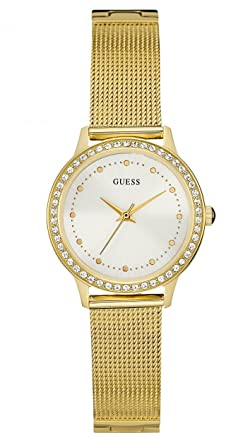 Guess Chelsea White Dial Stainless Steel Ladies Watch W0647L7