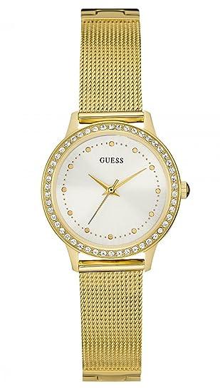 Guess Reloj analogico para Mujer de Cuarzo con Correa en Acero Inoxidable W0647L7: Amazon.es: Relojes