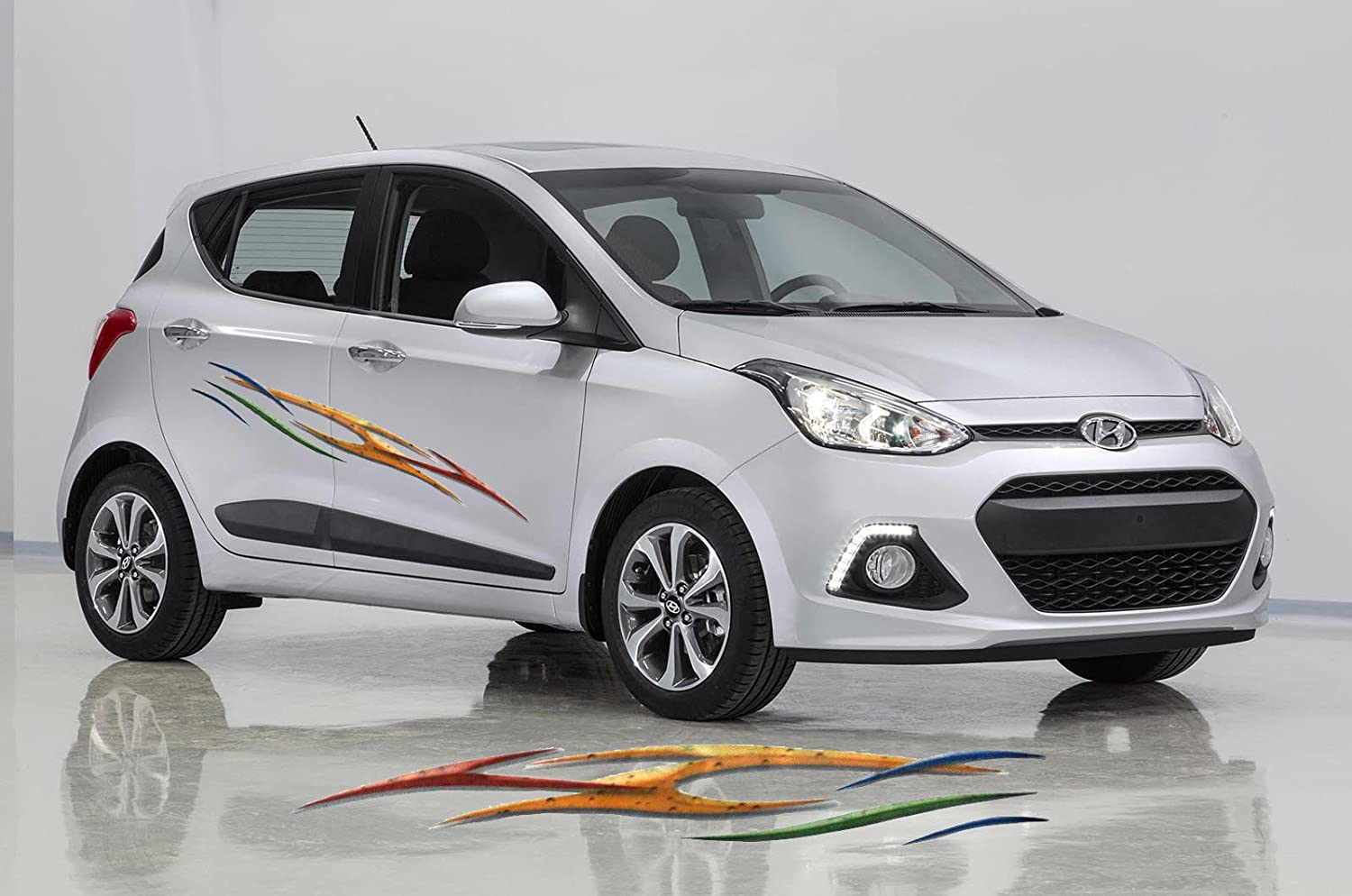 Generic hyundai i10 car graphics 2 side decal vinyl decal body sticker amazon in car motorbike