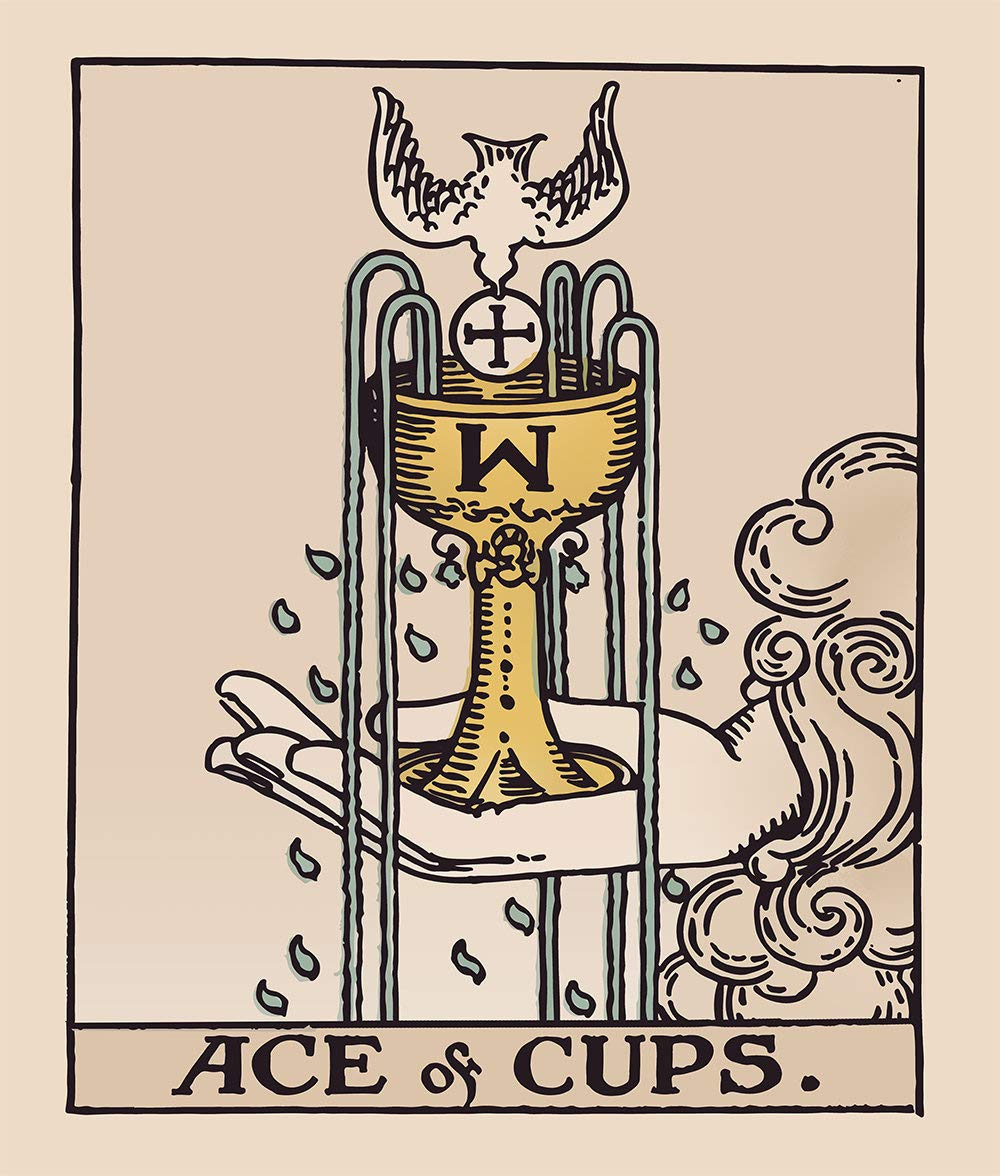 Rider Waite Ace of Cups Tapestry Ace of Cups Tarot Card Tapestry