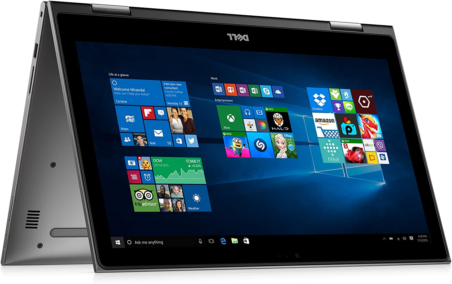 "Dell i5579-7978GRY-PUS Inspiron 15.6"" Touch Display - 8th Gen Intel Core i7 - 8GB Memory - 1TB Har Drive - Theoretical Gray"
