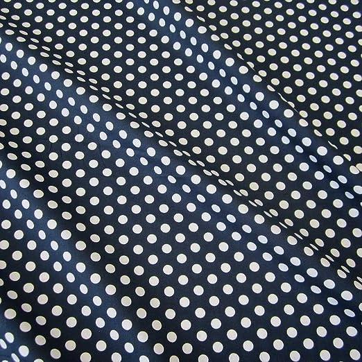 Tela de algodón azul blanco puntos M Lápiz de lunares azules ...