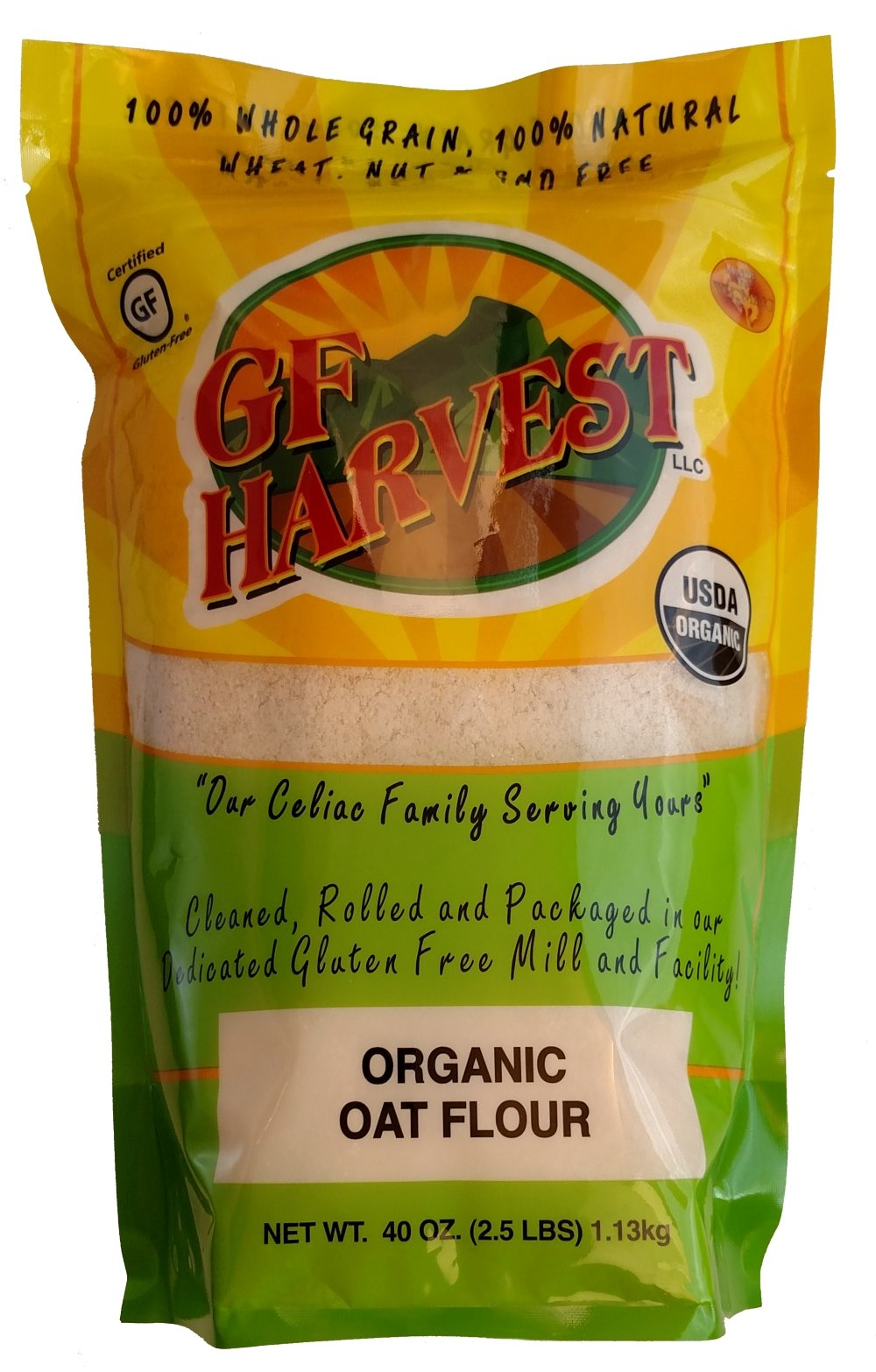 Amazon.com: GF Harvest Organic Quick Oats, Gluten Free, 41