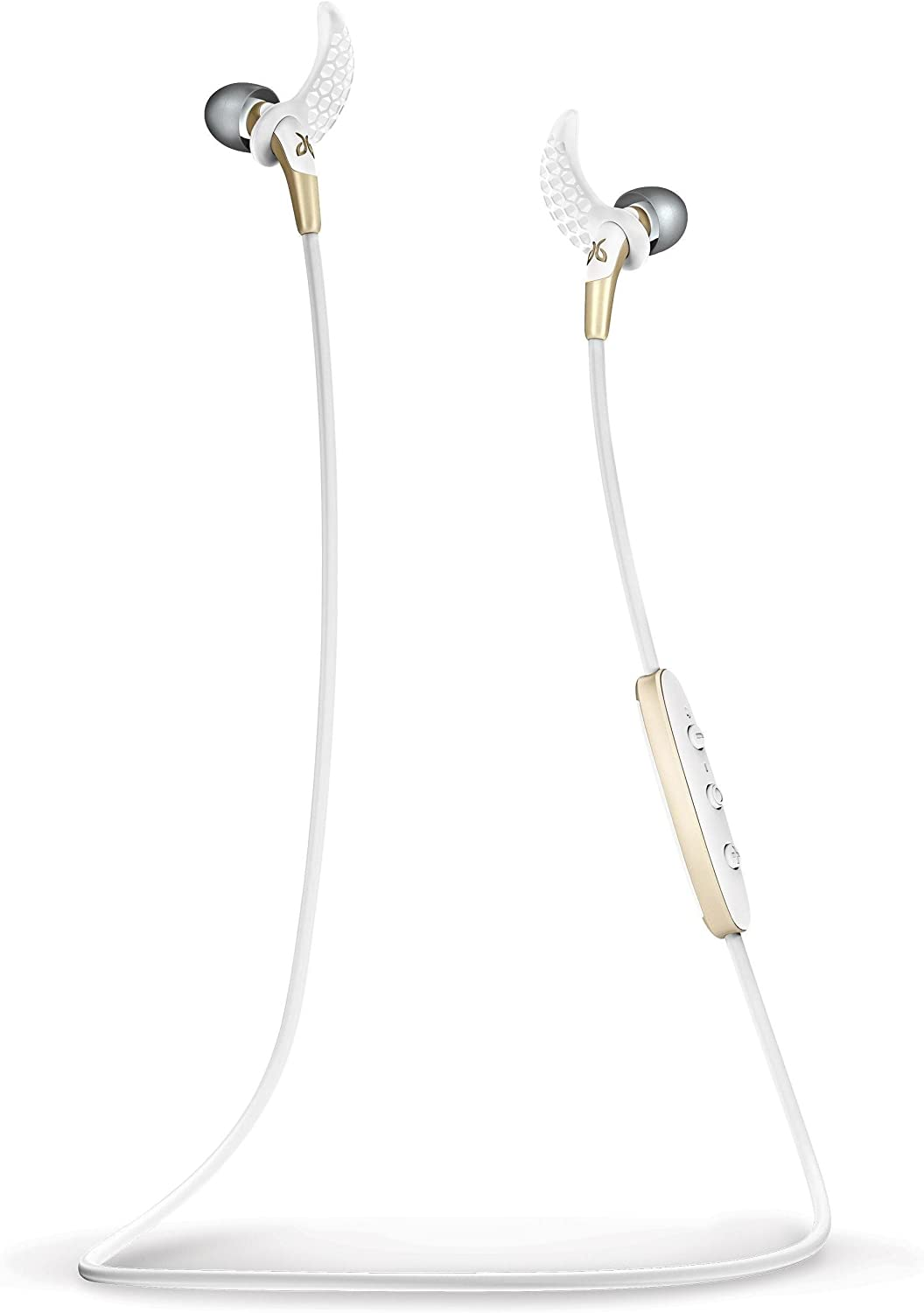 Jaybird Freedom F5 In-Ear Wireless Bluetooth Sports Headphones – Secure Sports Fit – Tough All-Metal Design – Gold