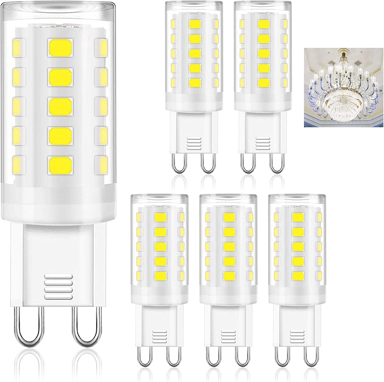 G9 LED mini PEAR Silicia 360° 230V 180//320lm pin socket bulb lamp