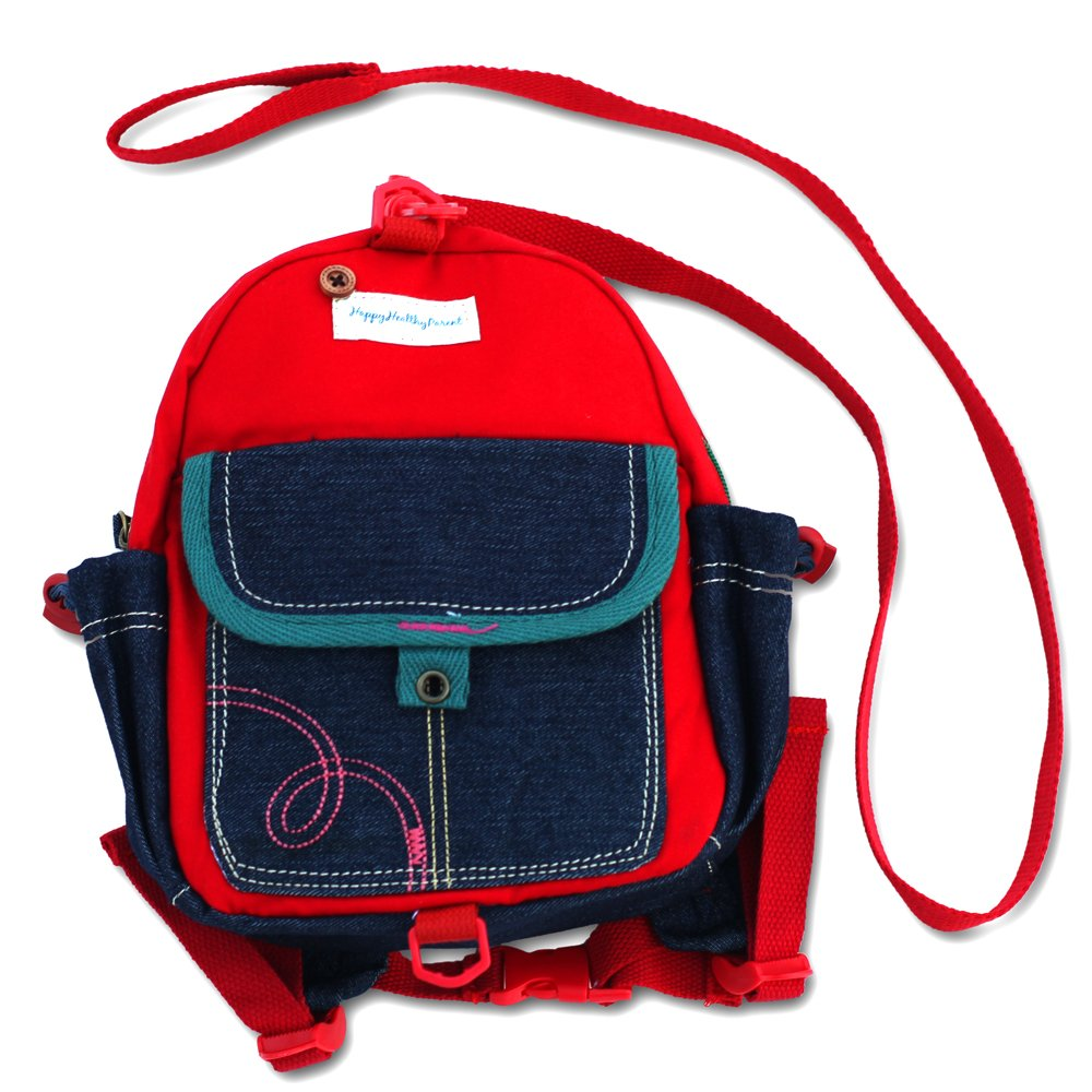 Toddler Backpack with Leash Never Lets Your Kids Get Away! Cute Child Safety Harness Bag for Pre-School! Keeps Essential Items Ready for Childcare! Great for Boys and Girls to be a Big Kid! (Red)