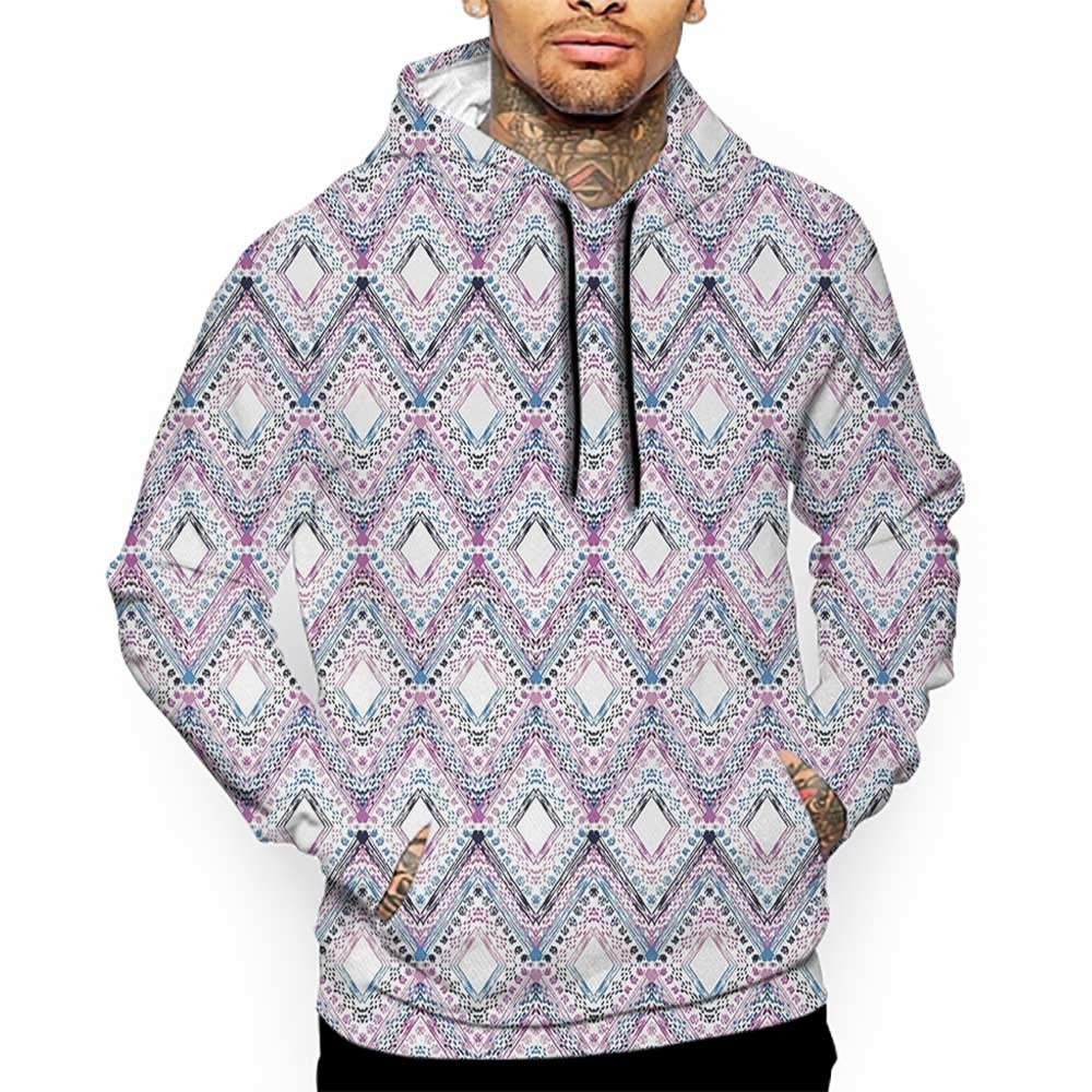 Hoodies Sweatshirt/Autumn Winter Paisley,Abstract Tribal Seamless Design with Ornamental Elements with Geometric Details,Multicolor Sweatshirt Blanket