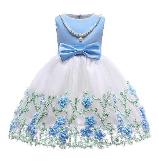 c1c8cf34f Jurebecia Toddler Girls Christmas Dress Girls Wedding Party Pageant Ball  Gown Blue Size 3T