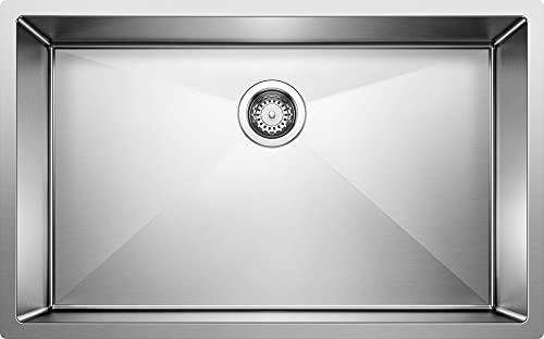 BLANCO 513686 PRECISION R10 Super Single Undermount Stainless Steel Kitchen Sink