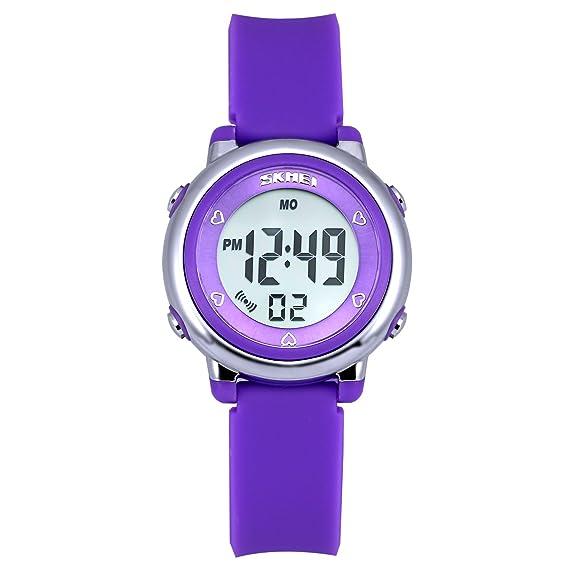 Reloj Digital para niños Retroiluminación LED Fecha Alarma Reloj Girl Boy Sport Reloj Diario Cronógrafo Multifuncional