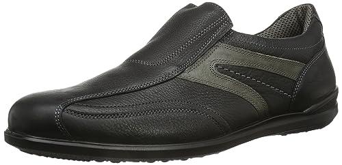 Jomos Men's Primera Loafers, Black - Schwarz (schwarz/asphalt), 40 EU