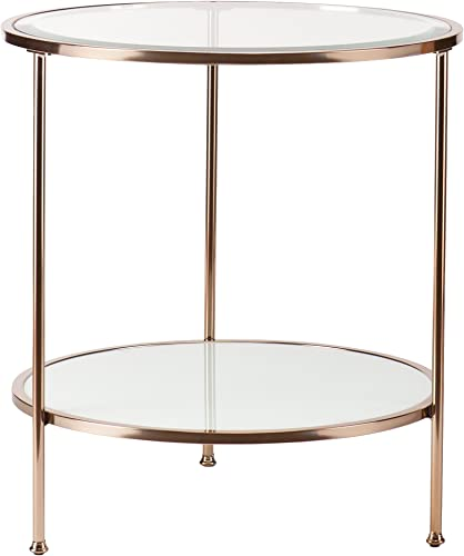 SEI Furniture Risa Metallic Frame End Table