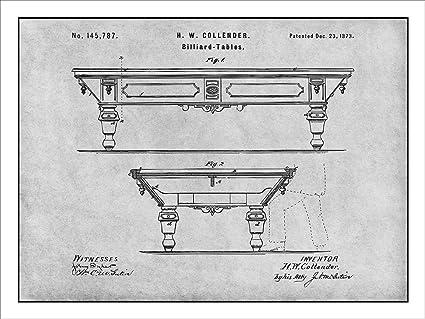 Amazon.com: 1873 Billiard Table - Pool Table Patent Print ... on tv schematics, pool tool ball ghost, pool hole sizes, whirlpool schematics, computer schematics, elevator schematics, pinball schematics, pool drawing, stereo schematics, air hockey schematics,