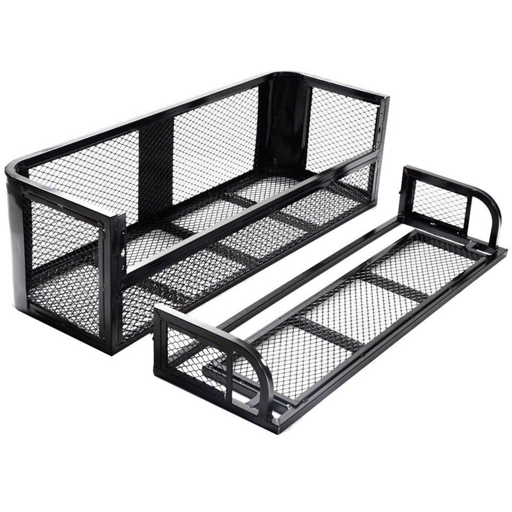 ATV UTV Universal Front Rear Set Drop Basket Rack Steel Cargo Hunting TKT-11 by TKT-11 (Image #3)