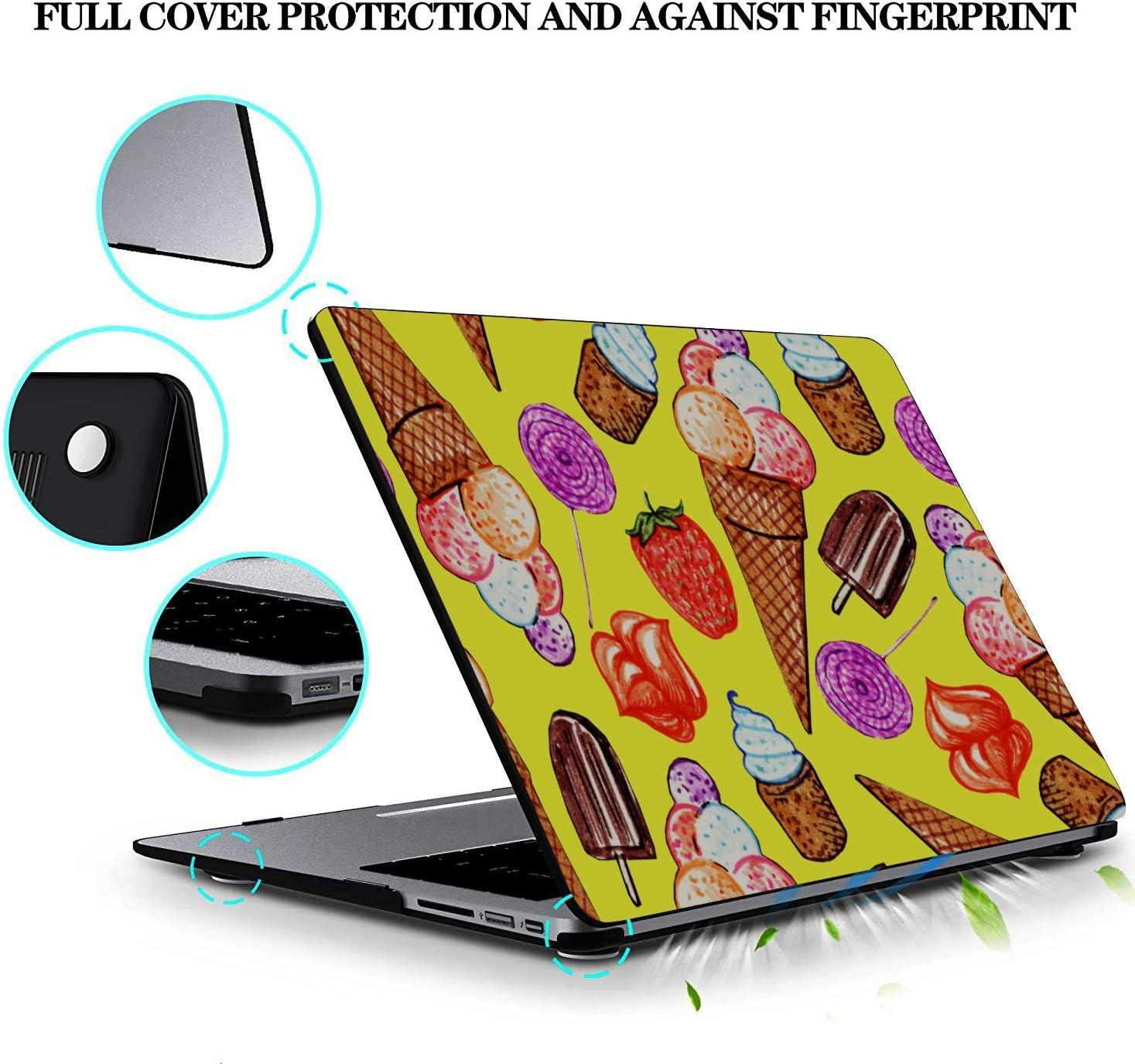 Case MacBook Pro 13 Summer Dessert Pointer Ice Cream Plastic Hard Shell Compatible Mac Air 11 Pro 13 15 12 Inch MacBook Case Protection for MacBook 2016-2019 Version