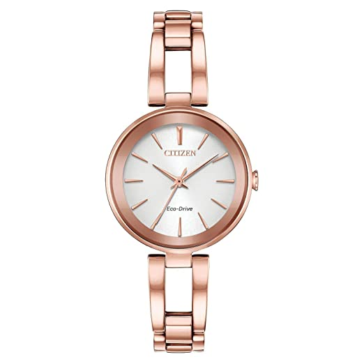 Citizen Axiom Reloj de mujer eco-drive 28mm correa de acero EM0633-53A: Amazon.es: Relojes