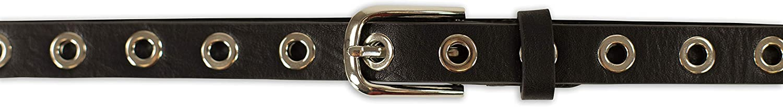 occhielli uomo e donna misure larghezze SCAMODA cintura de pelle a un fori con rivetti vari colori vari colori