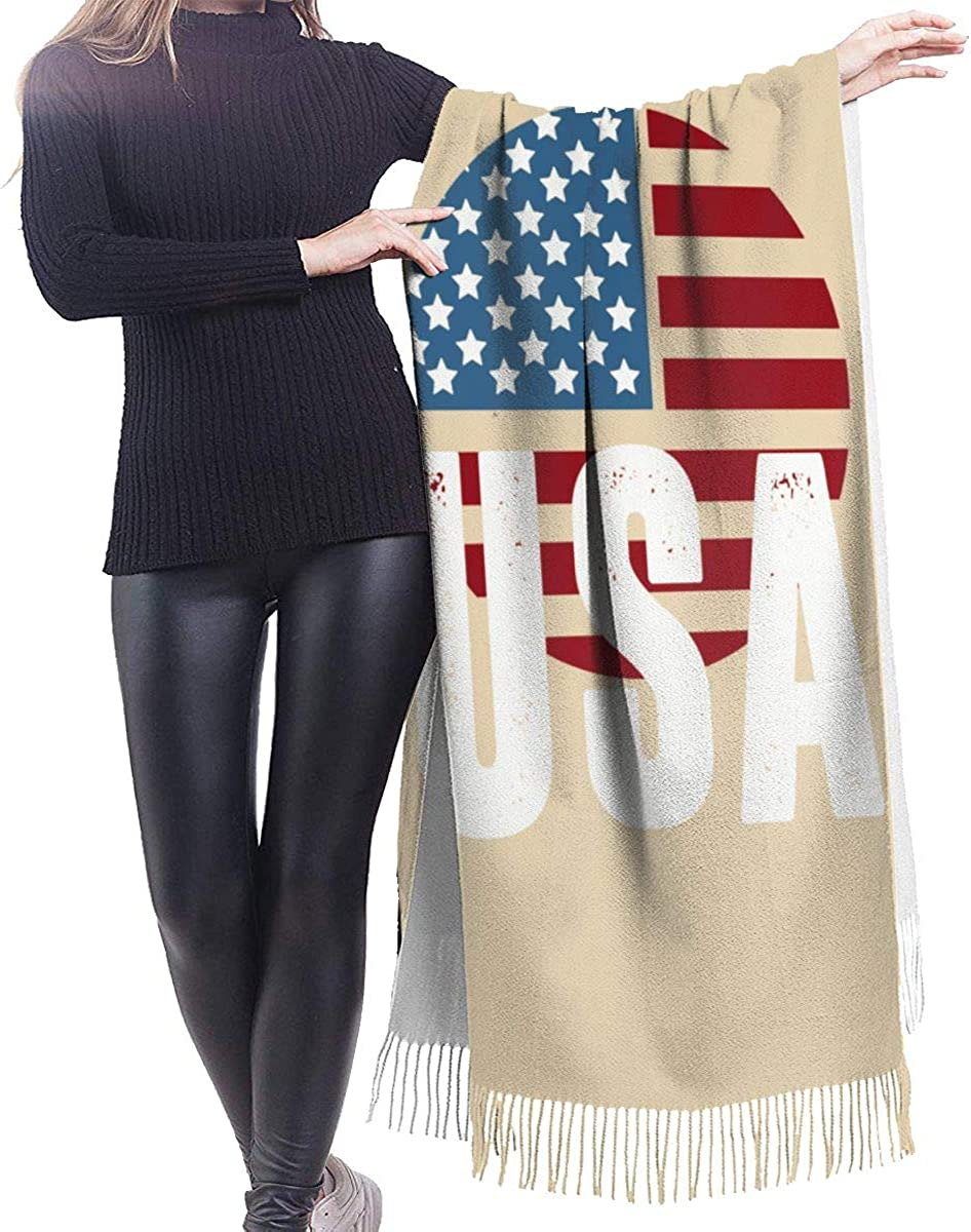 USA Ladies Cashmere Scarves Winter Big Thick Scarf Shawl Windproof Scarf 77in X 27in