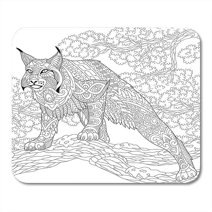 Amazon Com Boszina Mouse Pads Hunting Wildcat Lynx Bobcat Ready To