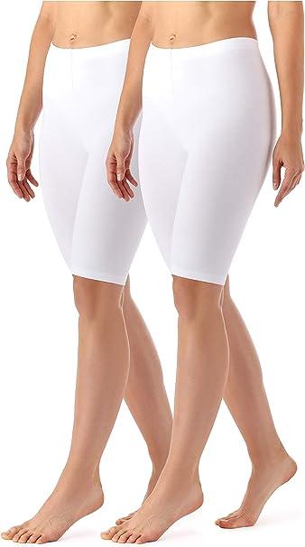 Merry Style Lote de 2 Leggins Cortos Mallas Deportivas Mujer MS10 ...