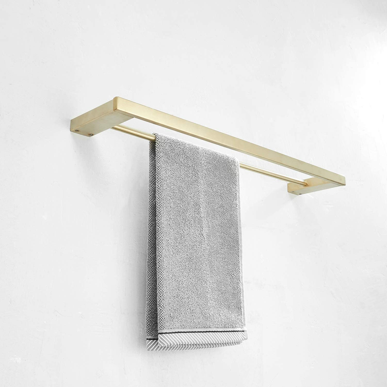 Fini dor/é Leekayer Porte-Serviettes Moderne pour Porte-Serviettes de Salle de Bain Double Rail bross/é Angle de Montage Mural 40 cm