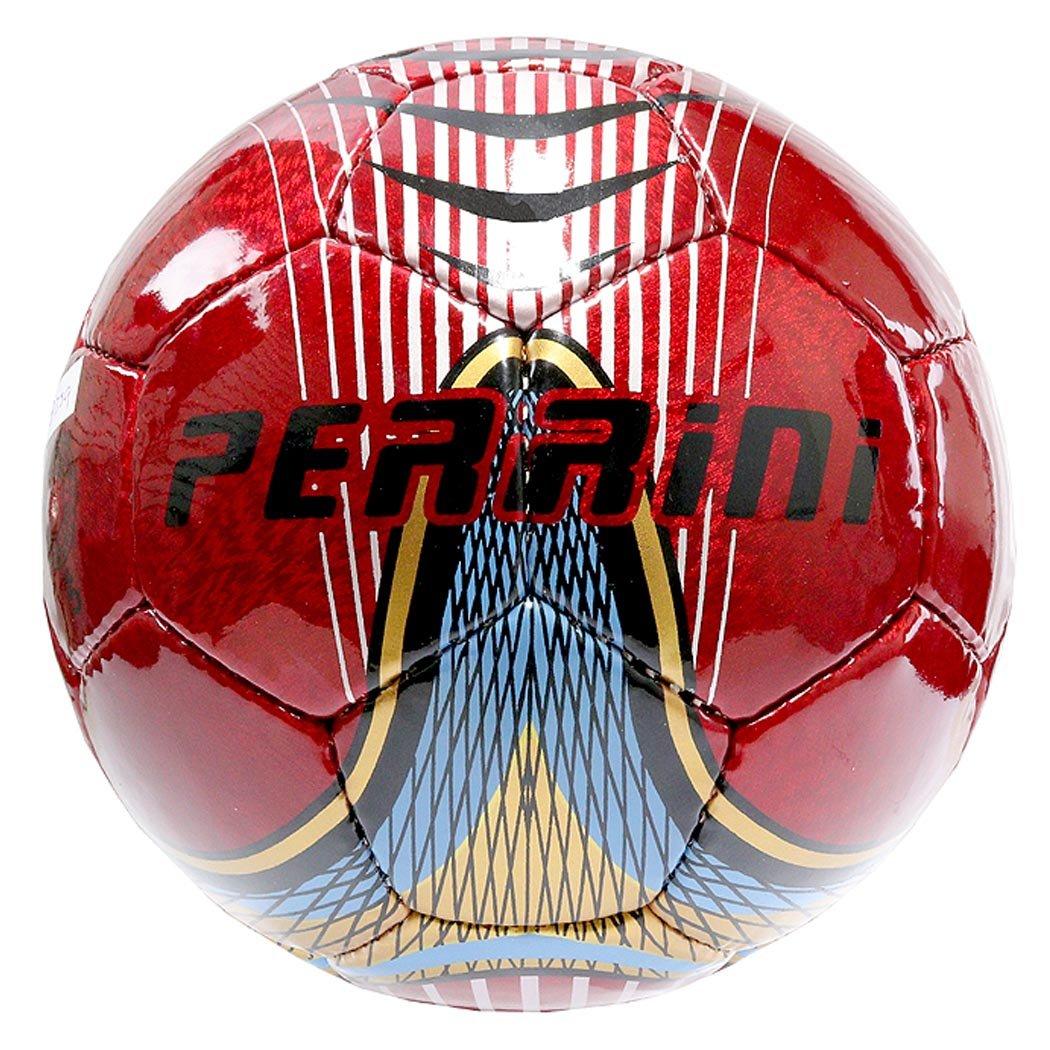 Perriniインドアアウトドアスポーツレッドゴールドブルーサッカーボールサイズ5 B078P4FSQG