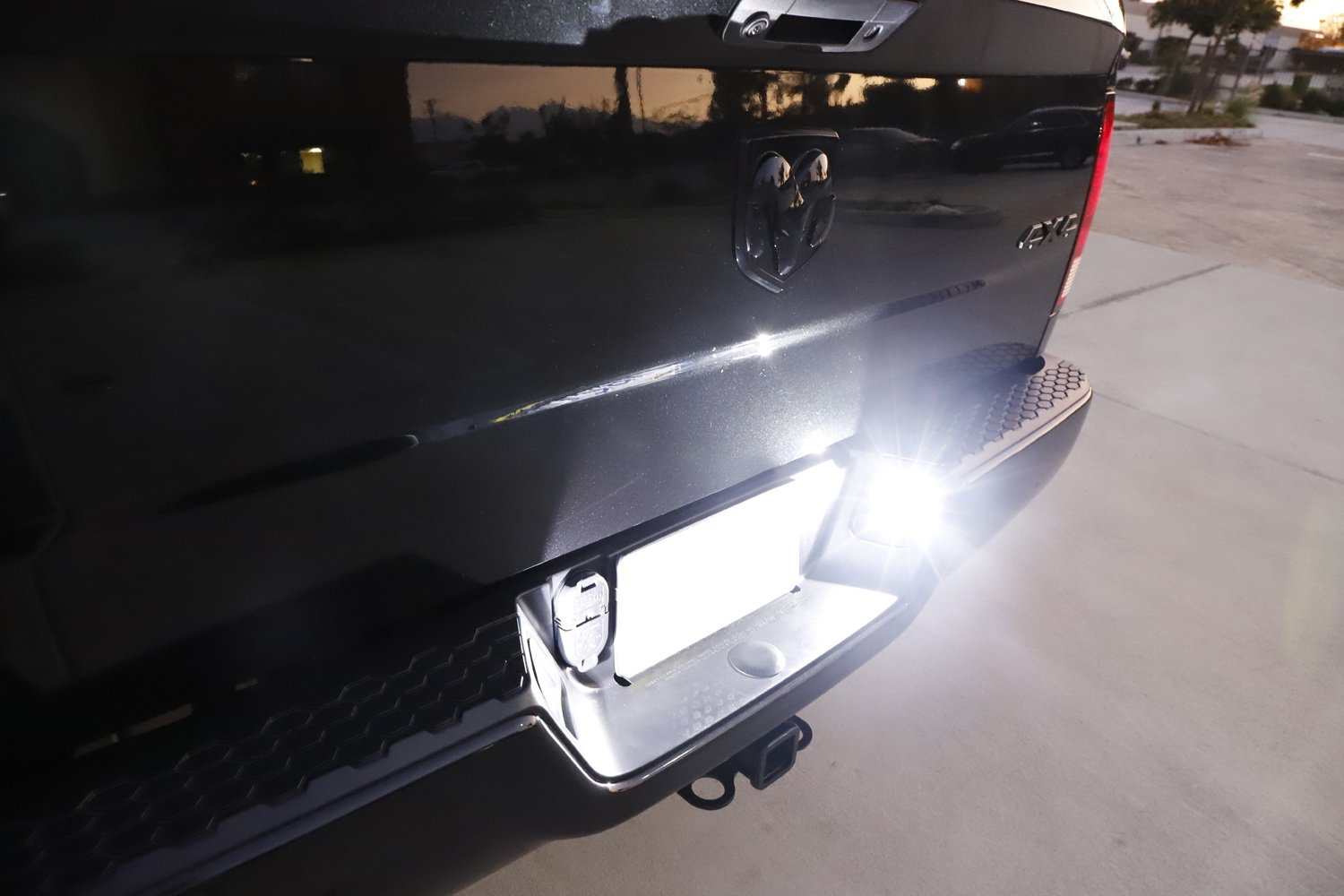 Powered by 18-SMD Xenon White LED iJDMTOY Replace Factory Number Frame OEM-Fit 3W Full License Plate Light Kit for 2003-18 Dodge RAM 1500 2500 3500