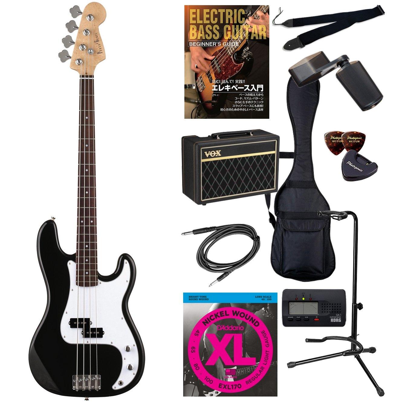 PhotoGenic エレキベース Amazonオリジナル12点 Pathfinder Bass10セット プレシジョンベースタイプ PB-240/BK/W3P ブラック/白ピックガード B00CSHTGJO ブラック(ホワイトピックガード) ブラック(ホワイトピックガード)