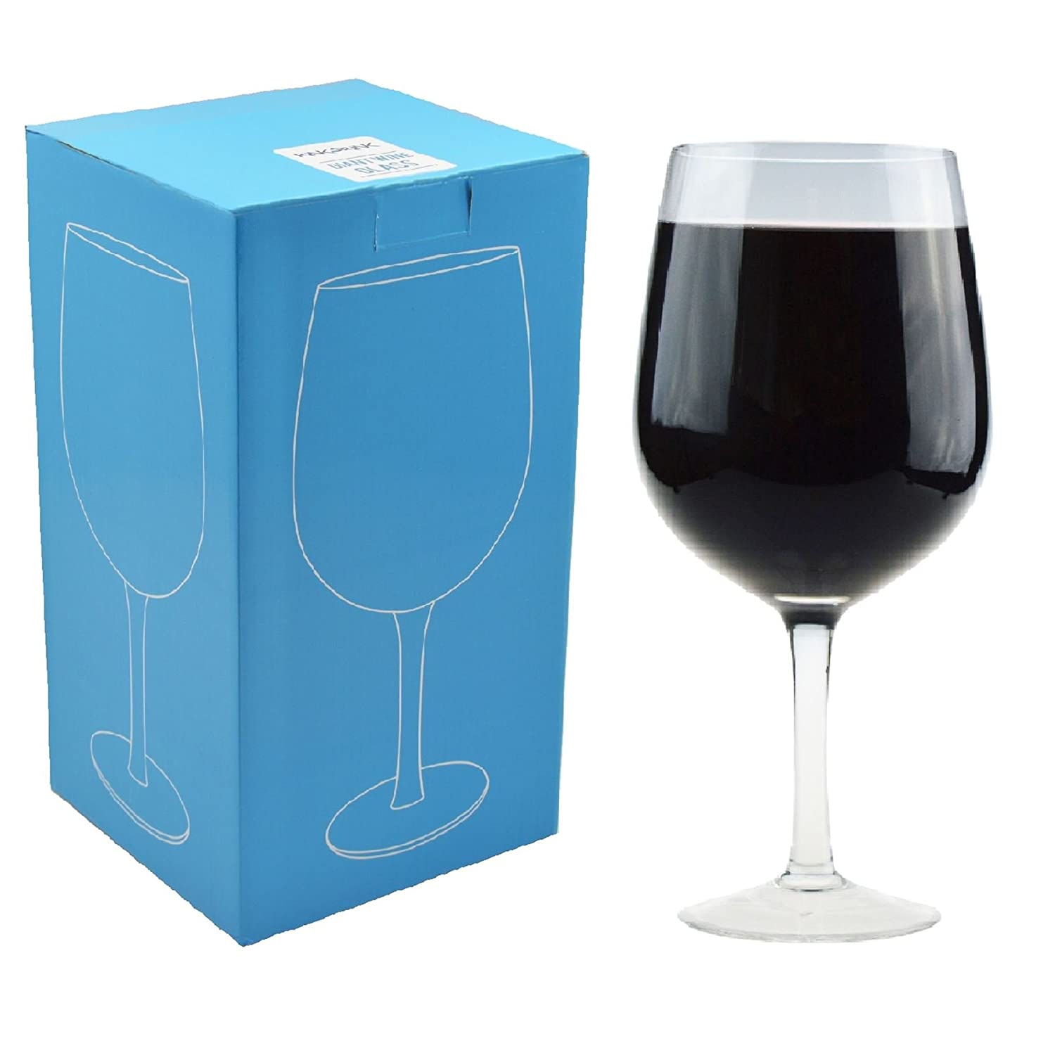 Rink Drink Giant Wine Glass, Party Glass. Holds a whole bottle of wine, 750ml.