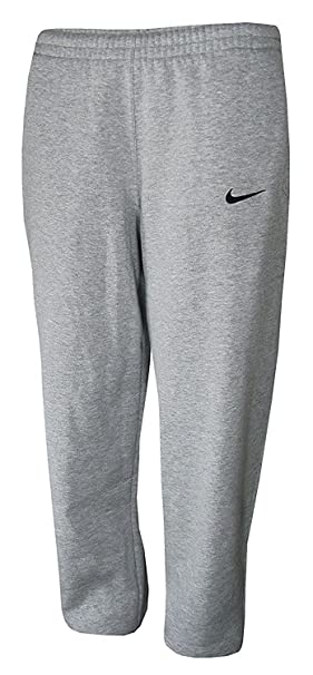 9cab8c3f8eb90 Amazon.com: Nike Core Open Bottom Fleece Pants (X-Small, Gray ...