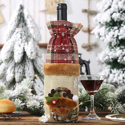 Bascar - Juego de Botellas de Vino, Botella de Lino Decorada ...