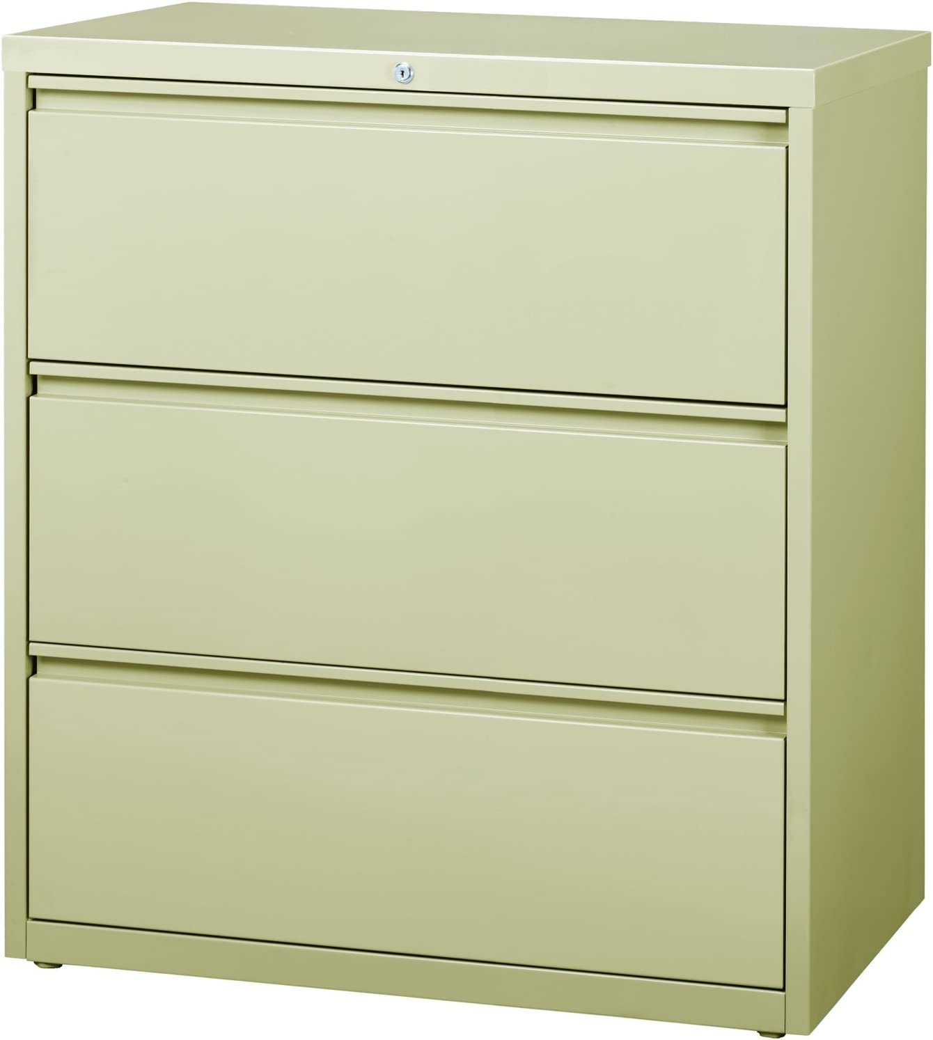 Office Dimensions Commercial Grade 36 Wide 3 Drawer Lateral File Cabinet Light Gray